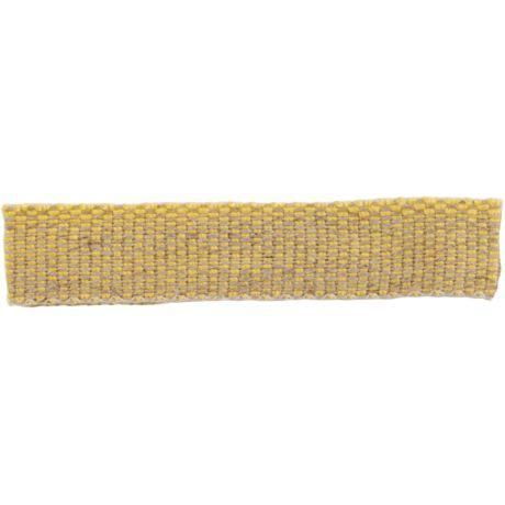 Ruban lin acrylique jaune et lin 10 mm