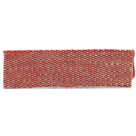 Ruban lin acrylique rouge et lin 15 mm