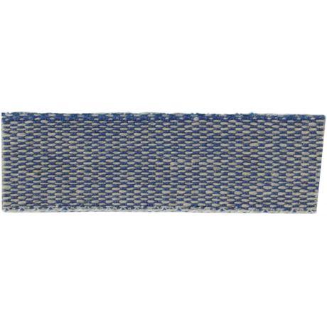Ruban lin acrylique marine et lin 15 mm