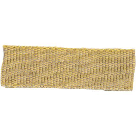Ruban lin acrylique jaune et lin 15 mm