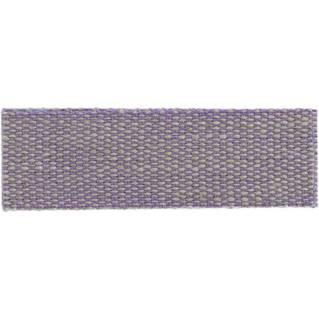 Ruban lin acrylique mauve et lin 15 mm