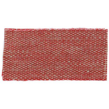 Ruban lin acrylique rouge et lin 25 mm