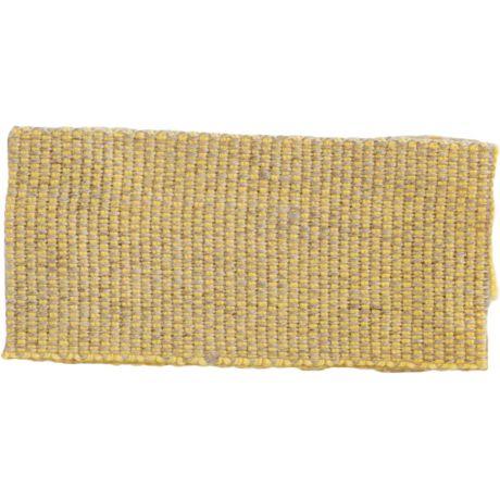 Ruban lin acrylique jaune et lin 25 mm