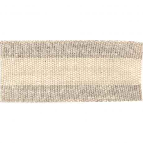 Ruban lin bicolore 30 mm