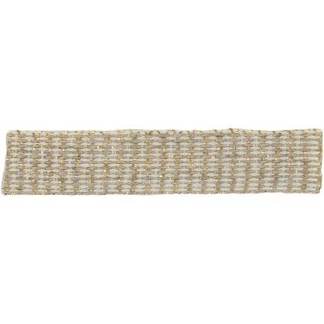 Ruban lin ivoire doré 10 mm