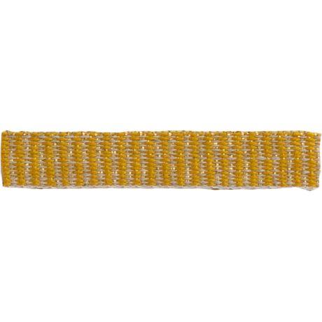 Ruban lin jaune doré 10 mm