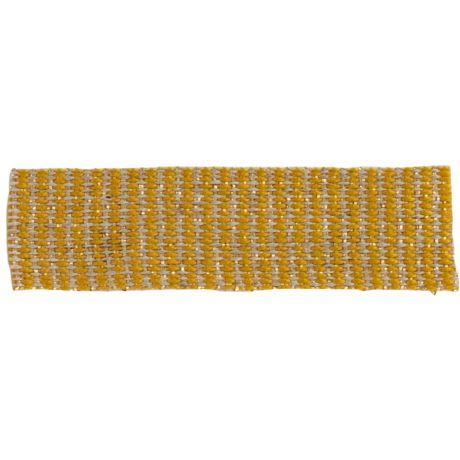 Ruban lin jaune doré 15 mm
