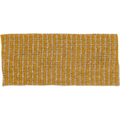 Ruban lin jaune doré 25 mm