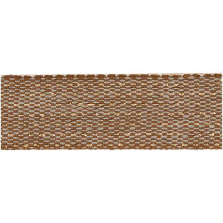 Ruban lin fil doré 15 mm