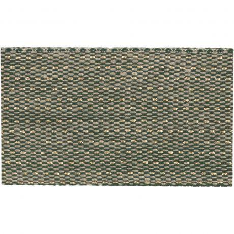 Ruban lin bicolore fil doré 30 mm