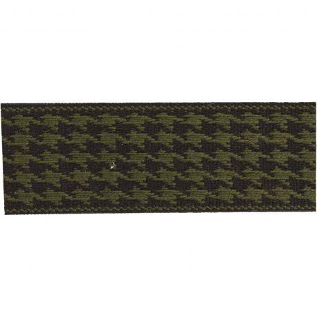 Ruban lin bicolore noir/vert 25 mm