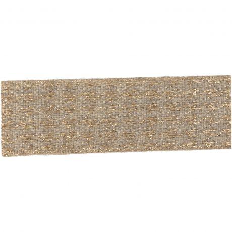 Ruban lin fil doré 25 mm