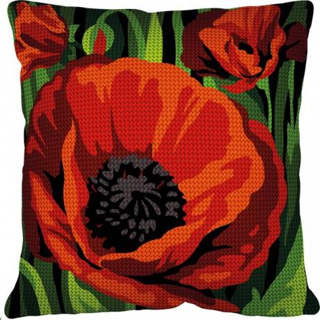 Kit coussin 40/40 Coquelicot