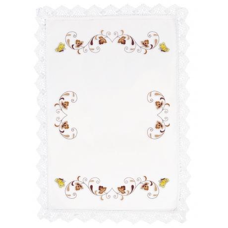 Nappe fil lin blanc 160/240 rectangle