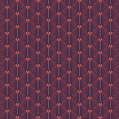 Tissu petales violet