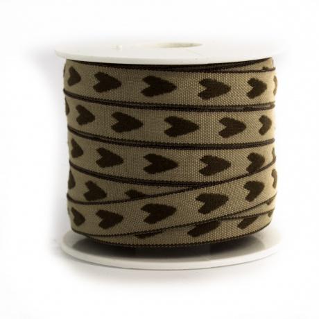 Ruban lin coton coeur 10 mm