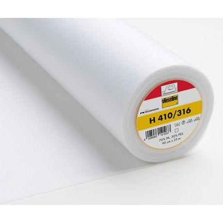 Entoilage souple thermo fil trame 90cm blanc