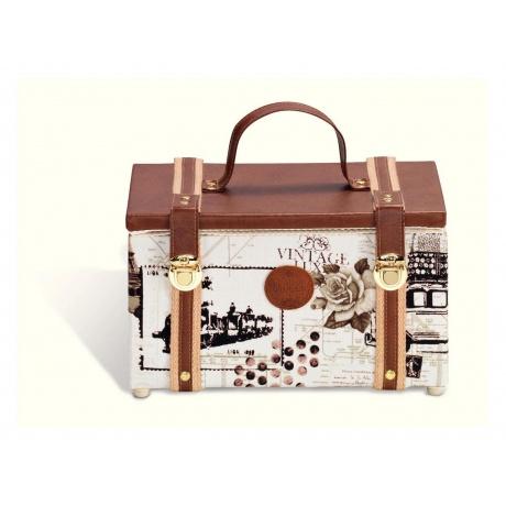 Coffret vintage brun 3b com for Boite a couture retro